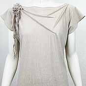 Одежда handmade. Livemaster - original item F_bezh T-shirt, beige color.. Handmade.
