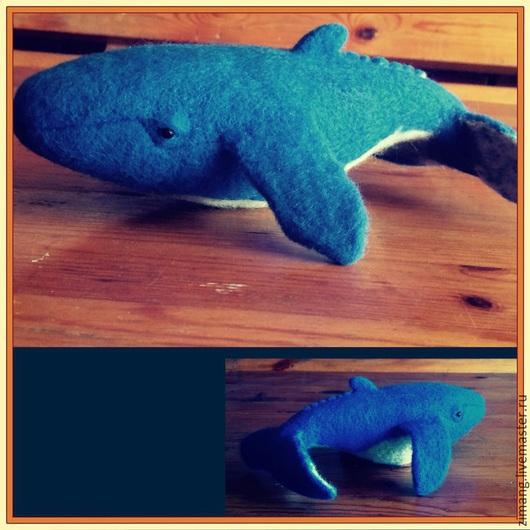 Игрушки животные, ручной работы. Ярмарка Мастеров - ручная работа. Купить Горбатый кит Егорка. Handmade. Синий, животные