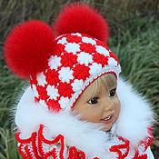 """Работы для детей, ручной работы. Ярмарка Мастеров - ручная работа """"Зимние цветы""""- шапочка+шарфик. Handmade."""
