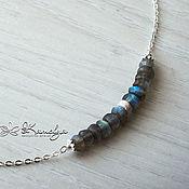 Украшения handmade. Livemaster - original item Silver necklace with labradorite