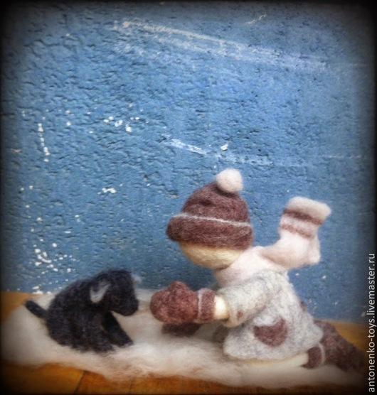 Человечки ручной работы. Ярмарка Мастеров - ручная работа. Купить Я Тебя нашел!. Handmade. Дружба, подарок женщине