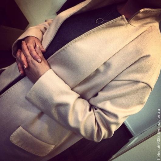 Верхняя одежда ручной работы. Ярмарка Мастеров - ручная работа. Купить Пальто из кашемира. Handmade. Бледно-розовый, ручная работа
