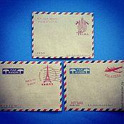 Бумага ручной работы. Ярмарка Мастеров - ручная работа Винтажные почтовые конверты. Handmade.