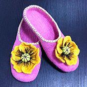 """Обувь ручной работы. Ярмарка Мастеров - ручная работа Тапочки """"Летнее настроение"""". Handmade."""