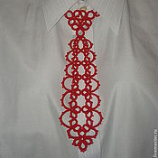 Аксессуары ручной работы. Ярмарка Мастеров - ручная работа Красный галстук. Handmade.