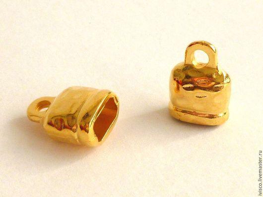 Для украшений ручной работы. Ярмарка Мастеров - ручная работа. Купить Концевики для браслетов Регализ-Regaliz 10х5мм. Handmade. Серебряный