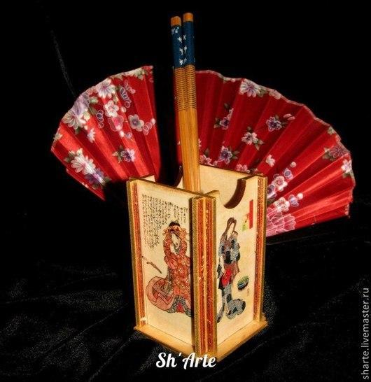 Карандашницы ручной работы. Ярмарка Мастеров - ручная работа. Купить Карандашница в японском стиле Гейши. Handmade. Карандашница, гейша, Распечатки