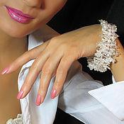 Свадебный салон ручной работы. Ярмарка Мастеров - ручная работа Тонкий свадебный браслет. Handmade.