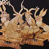 """Картины и панно ручной работы. Ярмарка Мастеров - ручная работа Панно-картина """"На лесной опушке"""". Handmade."""