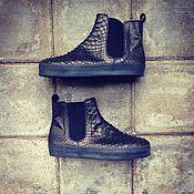 Обувь ручной работы. Ярмарка Мастеров - ручная работа Ботинки-слипоны из натуральной кожи питона. Handmade.