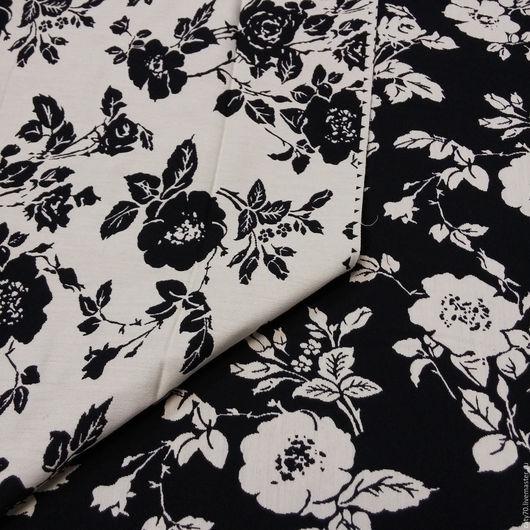 """Шитье ручной работы. Ярмарка Мастеров - ручная работа. Купить Жаккардовая ткань """"Розочки"""", линия D&G. Handmade. Ткань для шитья"""