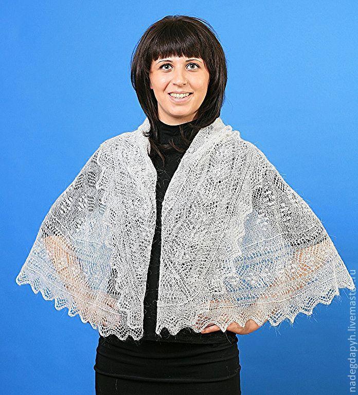 Clothing & Accessories handmade. Livemaster - handmade. Buy 42 Cape drape Openwork wedding.Wedding, orenburg shawl, fishnet