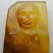 handmade. Livemaster - original item Natural Baltic amber carving St-085. Handmade.