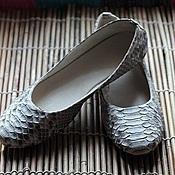 Обувь ручной работы handmade. Livemaster - original item from ballet flats natural python-grey. Handmade.
