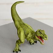 Мягкие игрушки ручной работы. Ярмарка Мастеров - ручная работа Тиранозавр Рекс.  (из полимерной глины). Handmade.