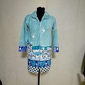 Одежда ручной работы. Ярмарка Мастеров - ручная работа Теплый уютный  халат для девочки. Handmade.