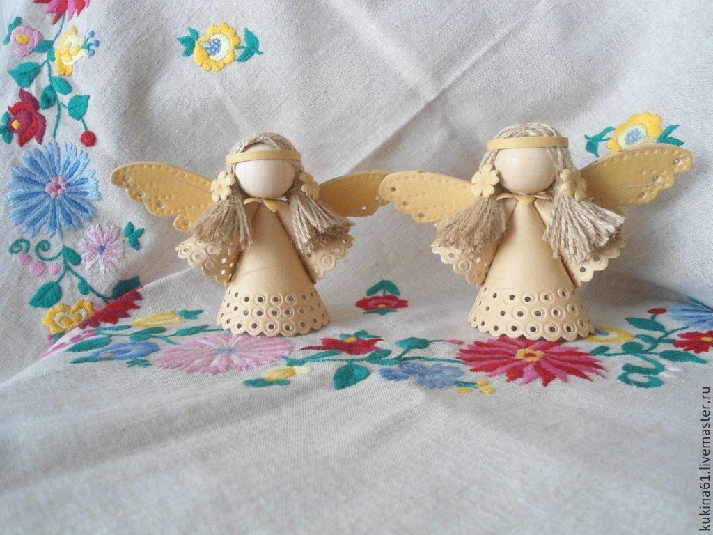 Как сделать ангела из бересты 4
