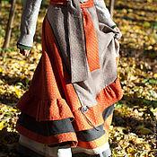 Одежда ручной работы. Ярмарка Мастеров - ручная работа Юбка теплая рыжая. Handmade.