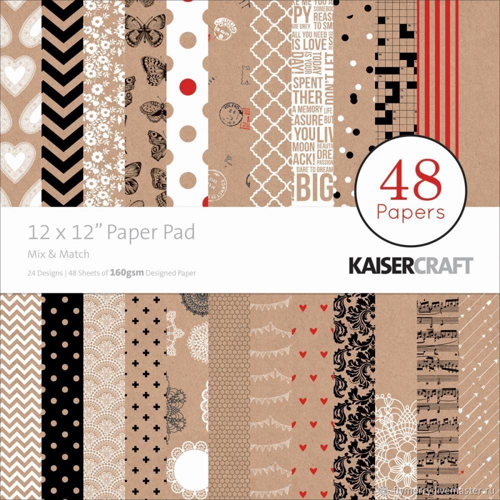 Набор бумаги 30х30 см (1/2 набора, 24 л.) - KAISERCRAFT, Бумага, Москва,  Фото №1