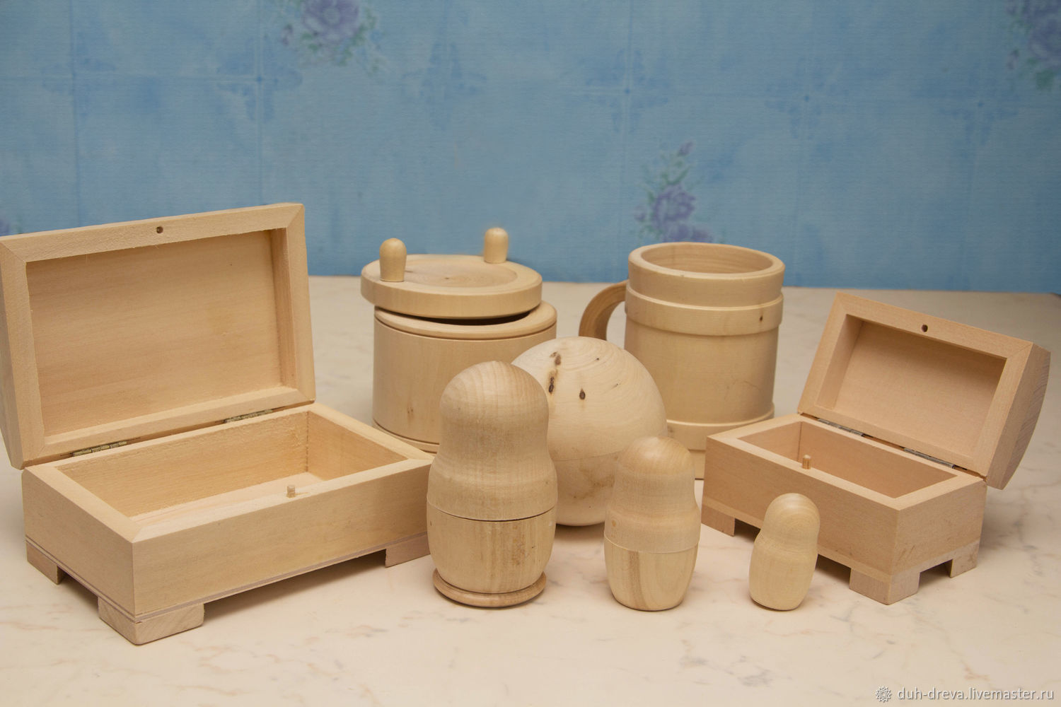 Wooden blanks: set of 6 items, Blanks for decoupage and painting, Vladimir,  Фото №1