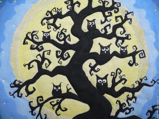 Текстильная картина `Лунная ночь` Зои Лариной