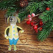 Куклы и игрушки handmade. Livemaster - original item SYMBOL 2018 - Yellow DOG from Tamarana. Handmade.