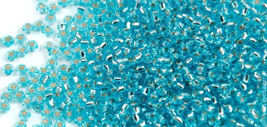 Для украшений ручной работы. Ярмарка Мастеров - ручная работа. Купить Круглый 11/0 Miyuki 18 Ice Blue SL Японский бисер Миюки. Handmade.