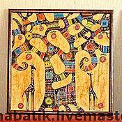 """Картины ручной работы. Ярмарка Мастеров - ручная работа Триптих """" Африка"""". Handmade."""