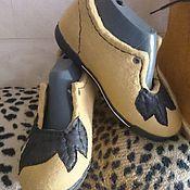 Обувь ручной работы. Ярмарка Мастеров - ручная работа полуботиночки валяные. Handmade.