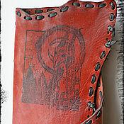 "Канцелярские товары ручной работы. Ярмарка Мастеров - ручная работа Визитница ""Virgo with horns"". Handmade."
