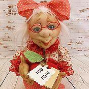 Куклы и игрушки ручной работы. Ярмарка Мастеров - ручная работа Текстильная Кукла Бабушка с Яблочком.Яблоки. Handmade.