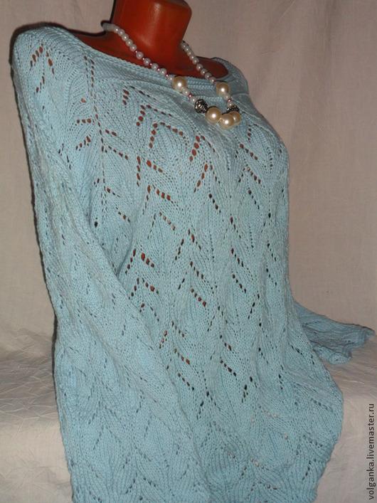 Кофты и свитера ручной работы. Ярмарка Мастеров - ручная работа. Купить Джемпер Голубой. Handmade. Голубой, пастель, светло-голубой
