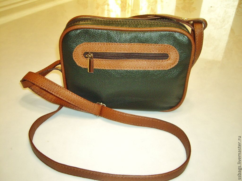 67391468952c Handbags handmade. Livemaster - handmade. Buy Bag small. Green. Genuine  leather.