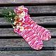 Носки, Чулки ручной работы. Ярмарка Мастеров - ручная работа. Купить Женские вязаные носки. Handmade. Разноцветный, носки