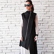 Одежда ручной работы. Ярмарка Мастеров - ручная работа Черный жилет, женский жилет. Handmade.