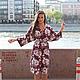 Летнее платье-кимоно из вискозы от AMODAY