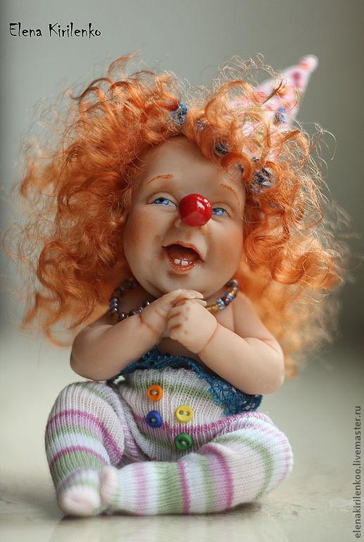 Коллекционные куклы ручной работы. Ярмарка Мастеров - ручная работа. Купить Paola. Handmade. Ярко-красный, prosculpt, шерсть