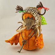 Русский стиль ручной работы. Ярмарка Мастеров - ручная работа Птица счастья оранжевая( бронь). Handmade.