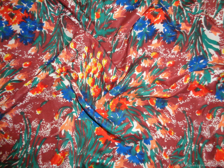 Ткань винтажная, шелк натуральный (крепдешин), 245х90см, Ткани, Нальчик,  Фото №1
