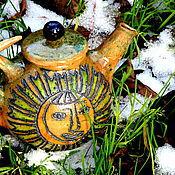 """Посуда ручной работы. Ярмарка Мастеров - ручная работа Чайник """"Солнце и луна"""". Handmade."""