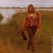 Одежда ручной работы. Ярмарка Мастеров - ручная работа джемпер Африка теплый вязаный женский авторский. Handmade.