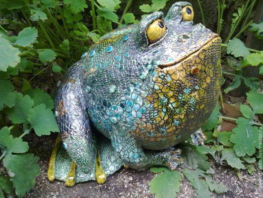 Экстерьер и дача ручной работы. Ярмарка Мастеров - ручная работа. Купить жаба садовая. Handmade. Керамика ручной работы, подарк