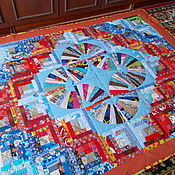 """Для дома и интерьера ручной работы. Ярмарка Мастеров - ручная работа Лоскутное покрывало """" Виражи"""". Handmade."""