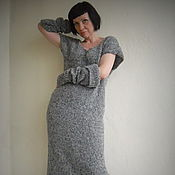 Одежда ручной работы. Ярмарка Мастеров - ручная работа Вязаный трансформер Платье-кардиган. Handmade.