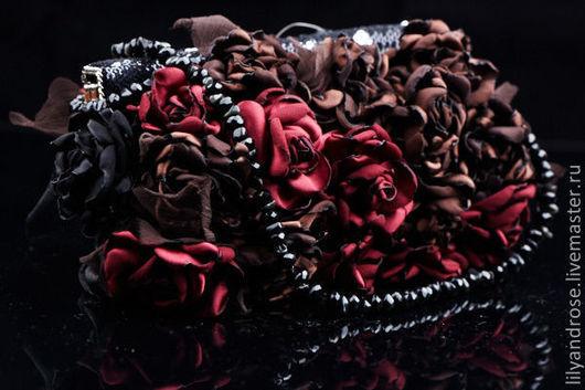 Женские сумки ручной работы. Ярмарка Мастеров - ручная работа. Купить Сумочка  с цветами. Handmade. Коричневая сумка, цветы на сумках