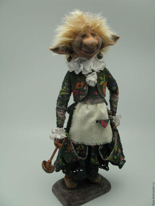 Сказочные персонажи ручной работы. Ярмарка Мастеров - ручная работа. Купить Брауни Волосатая Мег. Handmade. Комбинированный, английские домовые