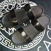 Обувь ручной работы handmade. Livemaster - original item Men`s flip - flops, made of genuine crocodile leather.. Handmade.