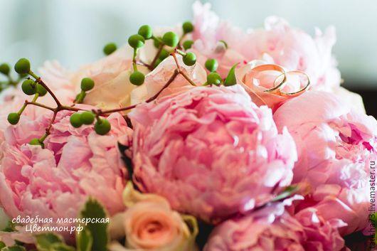 """Свадебные цветы ручной работы. Ярмарка Мастеров - ручная работа. Купить Свадьба """"Нежность"""". Handmade. Розовый, невеста, оформление зала"""