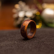 Украшения handmade. Livemaster - original item Ring amaranth wood and merbau. Handmade.