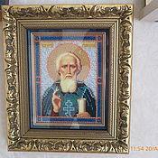 Картины и панно handmade. Livemaster - original item Icon of St. Sergius of Radonezh. Handmade.